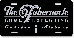 Tabernacle Church, Gadsden, AL: 'Before and After' license plate makeover - (After)