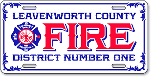 Leavenworth Fire District #1, Lansing, KS: 'Before and After' license plate makeover (After)