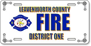 Leavenworth Fire District #1, Lansing, KS: 'Before and After' license plate makeover (Before)