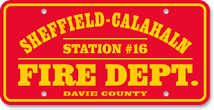 Sheffield-Calahaln Volunteer Fire Department, Mocksville, NC: 'Before and After' license plate makeover (After)