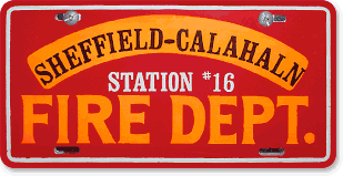 Sheffield-Calahaln Volunteer Fire Department, Mocksville, NC: 'Before and After' license plate makeover (Before)