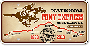 National Pony Express Association, Wyoming: 'Before and After' license plate makeover - (After)