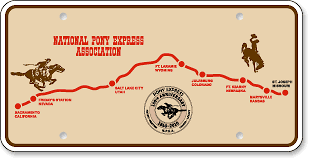 National Pony Express Association, Wyoming: 'Before and After' license plate makeover - (Before)