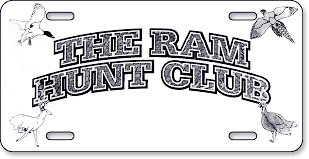The RAM Hunt Club, Mount Gilead, NC: 'Before and After' license plate makeover (Before)