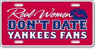 Real Women Don't Date Yankees Fans - Chowdaheadz, Woburn, MA: 'Before and After' license plate makeover (After)