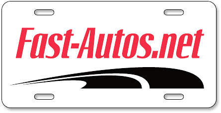 Fast-Autos.Net plastic car dealer tags - detail