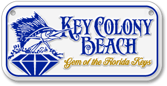 Key Colony Beach custom embossed aluminum bicycle license plate design sample - detail