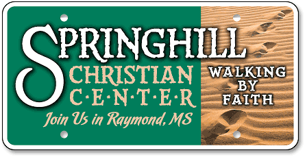 Springhill Christian Center custom license plates - detail