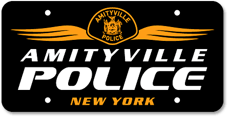 Amityville, NY Police Department custom license plates - detail