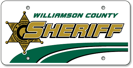 Williamson County Sheriff custom license plates - detail