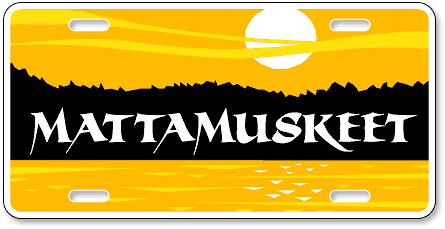 Mattamuskeet National Wildlife Refuge custom high-gloss plastic license plates - detail