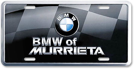 BMW of Murrieta custom license plates - detail