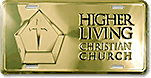 Pricing: 12x6 Deluxe Gold and Silver Screen-Printed Spot-Color Custom Embossed Aluminum License Plates (High Living Christian Church design sample)