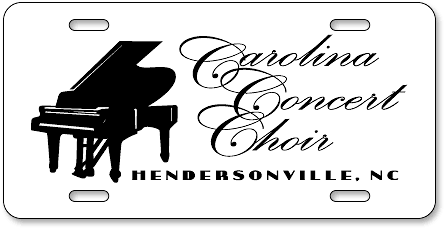Carolina Concert Choir auto tag design sample - detail view